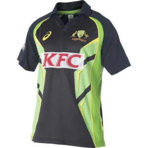 Asics Cricket Australia Replica T20 Kids Boys Cricket Shirt
